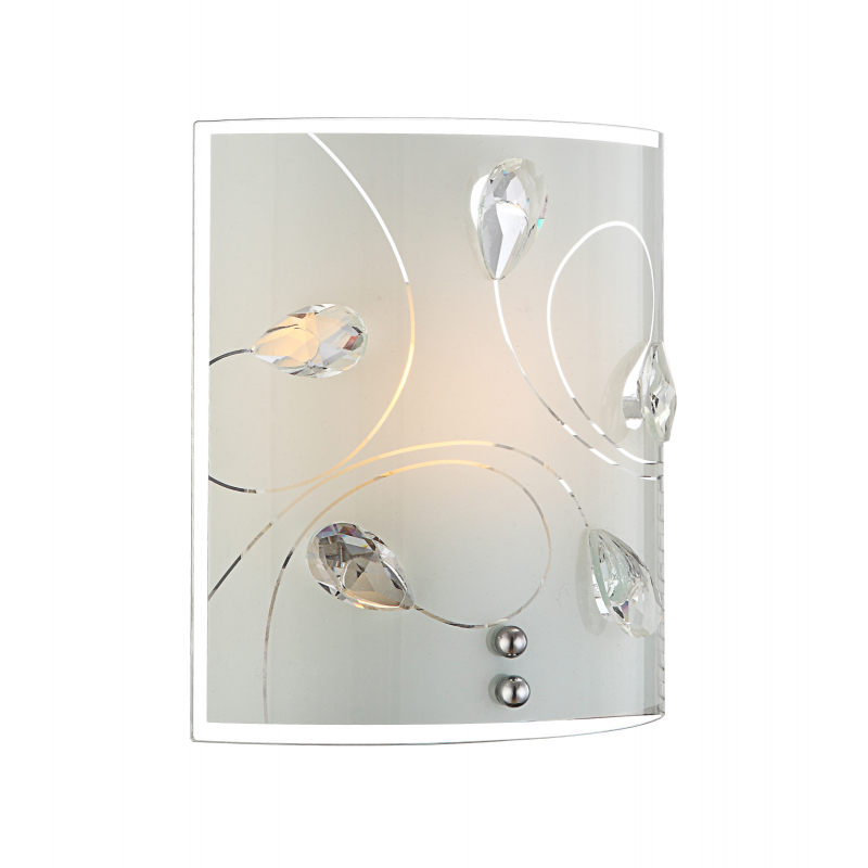 Aplica de perete nichel mat cristale K5 transparente 40414-1W ALIVIA