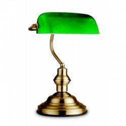 Veioza alamă antică sticlă verde 24934 ANTIQUE