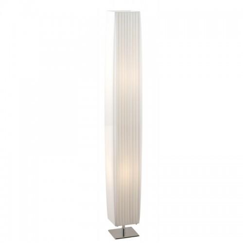 Lampadar crom textil alb plisat 24662 BAILEY