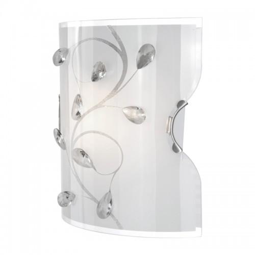 Aplica de perete  sticla mata cristale K5 transparente 40404W BURGUNDY