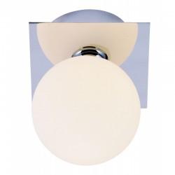 Aplica de perete crom sticla alb mat 5663-1L CARDIFF