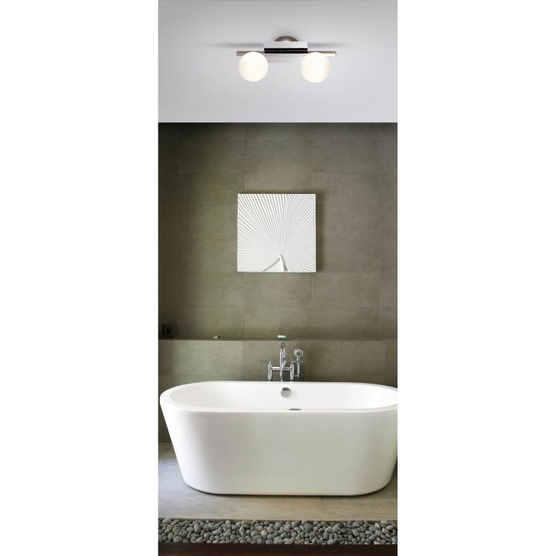 Aplica de perete crom sticla alb mat 5663-2L CARDIFF