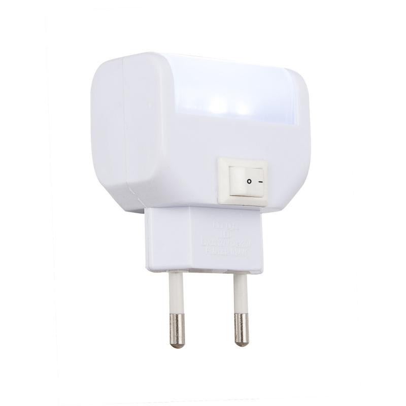 Lampa de veghe plastic alb mufă directă 31908 CHASER