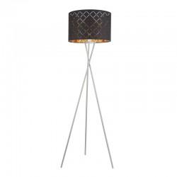 Lampadar nichel mat textil negru auriu metalizat 15229S1 CLARKE