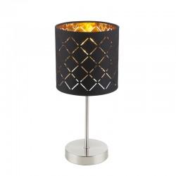 Veioza nichel mat textil negru auriu metalizat 15229T CLARKE