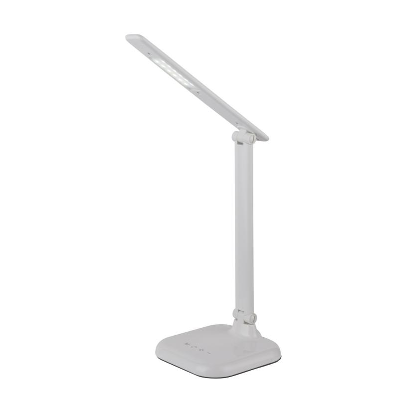 Lampa de birou plastic alb cu adaptor  ivotantă, cu atingere on / off 58209W DAVOS