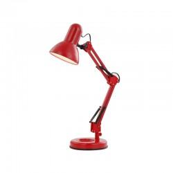 Lampa de birou metalic rosu plastic  24882 FAMOUS