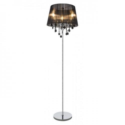 Lampadar Lani cu structura metalica si abajur textil 15028-3S Globo