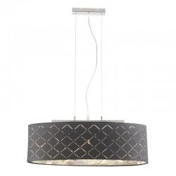 Suspensie nichel mat textil negru argintiu metalizat 15228H2 KIDAL
