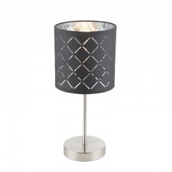 Veioza nichel mat textil negru argintiu metalizat 15228T KIDAL