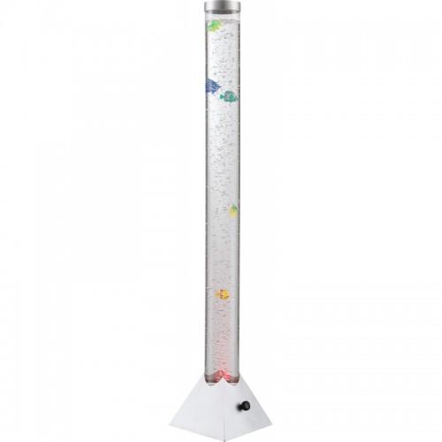 Lampadar metal plastic argintiu tub plastic transparent  9015 MENDOZA RABALUX
