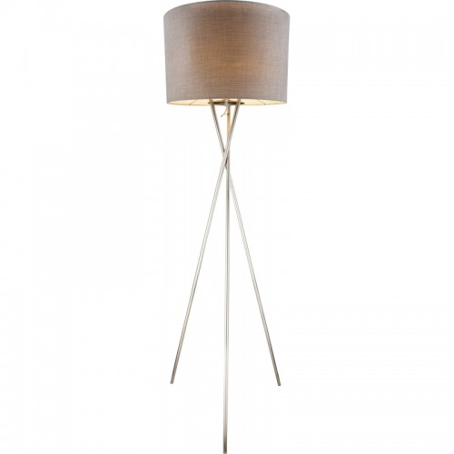 Lampadar nichel mat plastic textil gri 15185S1 PACO
