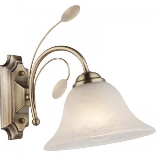 Aplica de perte alamă antică, sticlă optica alabastru alb 69007-1W POSADAS
