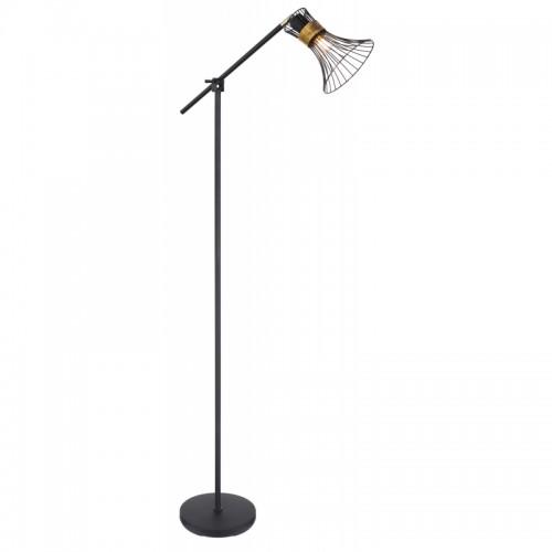 Lampadar metal negru/auriu 54814S PURRA RABALUX