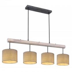 Suspensie metal negru mat lemn gri 15378-4 ROGER
