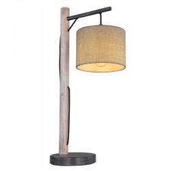 Veioza metal negru mat lemn gri 15378T ROGER