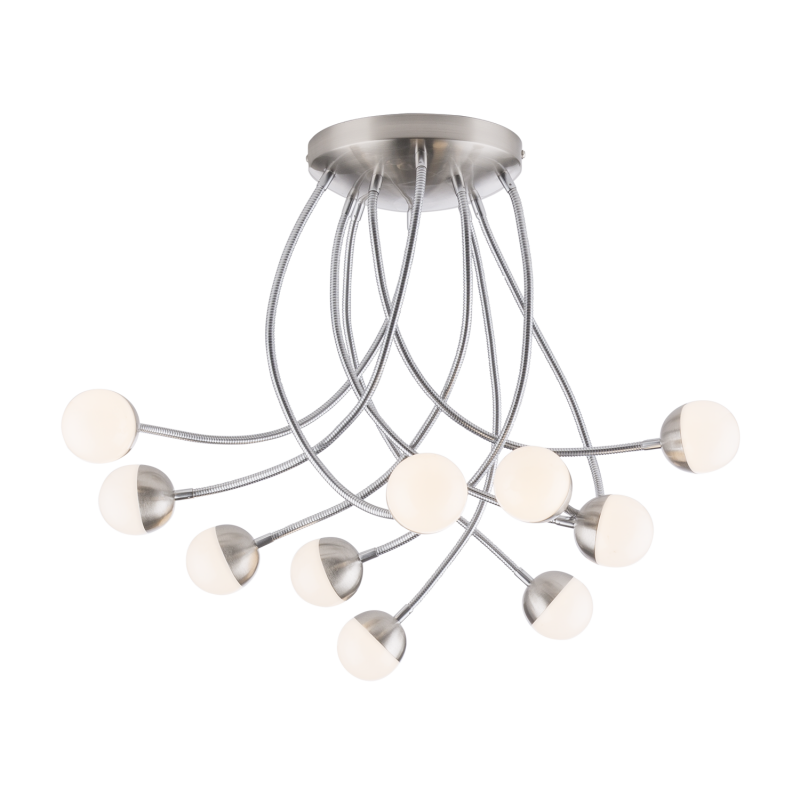 Lustra Roslin cu LED si structura metalica 24134-10D Globo