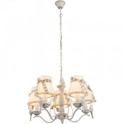 Candelabru alb platinat auriu  textil alb  cu pasăre 69027-5 SAVIO