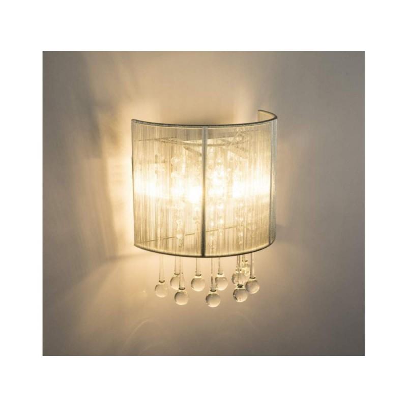 Aplica Sierra LED cu structura metalica si abajur textil 15094W Globo