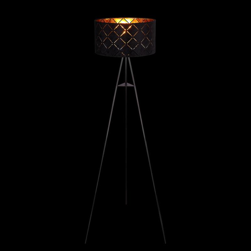 Lampadar metal negru textil negru interior auriu 15334S SUNNA RABALUX