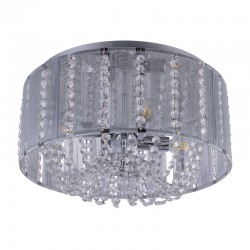 Plafoniera moderna, metal lucios/cristale 15091D WALLA