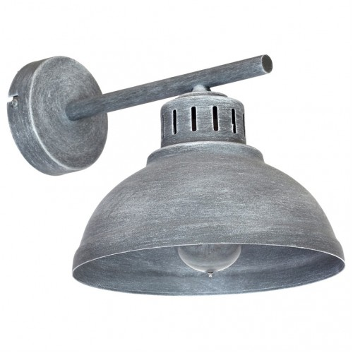 Aplica Ancient pentru interior,structura metalica de culoare gri antic si abajur metalic KL 6488 Klausen