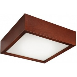 Plafoniera Lamkur pentru interior,finisaj lemn de pin rustic si sticla 32689 Lamkur