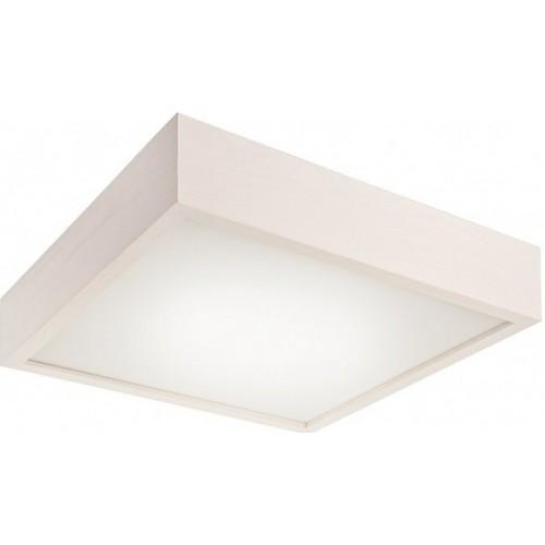 Plafoniera Lamkur pentru interior,din lemn alb si sticla 32733 lamkur