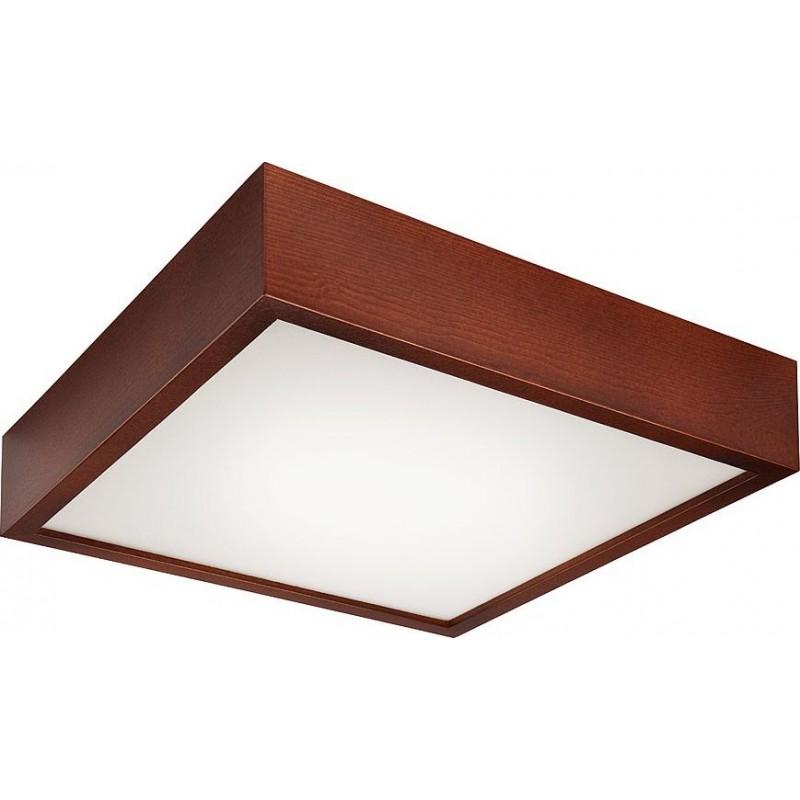 Plafoniera Lamkur pentru interior,finisaj lemn de pin rustic si sticla 32740 Lamkur
