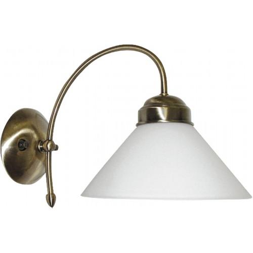 LAMPA DE PERETE CLASICA CU ABAJUR DIN STICLA ALBA MARIAN 2701