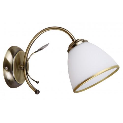 LAMPA DE PERETE CLASICA CU ABAJUR DIN STICLA ALETTA 2778