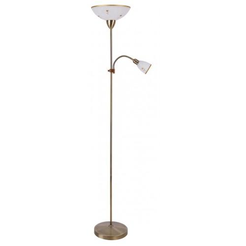 LAMPADAR CLASIC CU ABAJUR DIN STICLA MODEL ALB ART FLOWER 4009 RABALUX