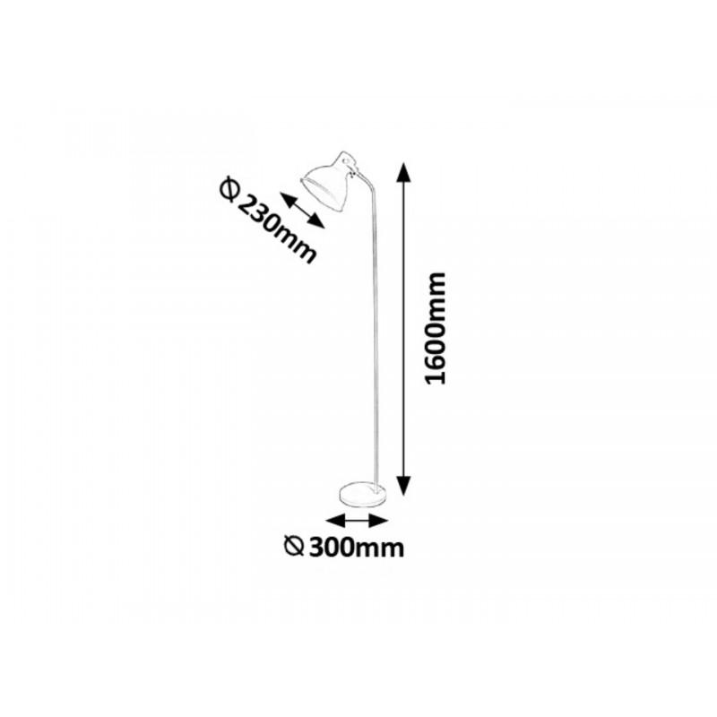 LAMPADAR METAL GRI DEREK 4329 INDUSTRIAL&NORDIC RABALUX