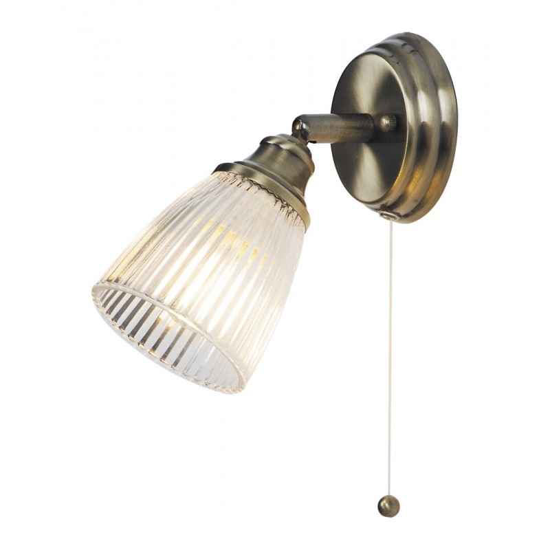 LAMPA DE PERETE BRONZ ANTCHIZAT CU ABAJUR DIN STICLA ALBA MARTHA 5014 RABALUX