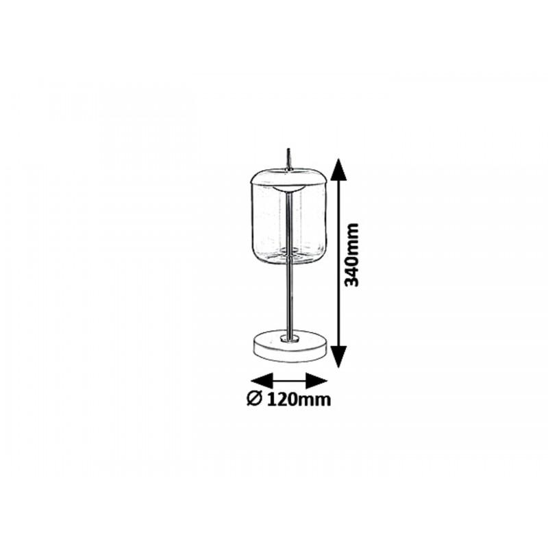 LAMPA DE MASA /VEIOZA GEAM FUMURIU DELICE 5026 RABALUX