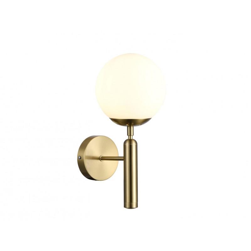 Lampa de perete cu structura de metal auriu si abajur din sticla KASSIA 5394