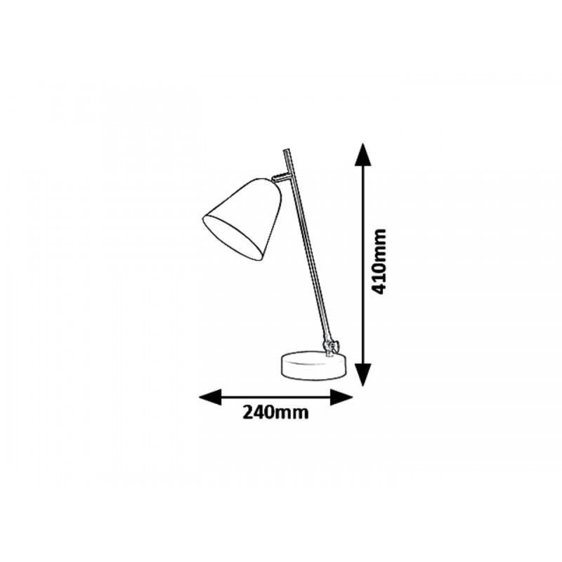 LAMPA DE MASA / VEIOZA STRUCTURA DIN METAL NEGRU ALDER 5378 INDUSTRIAL&NORDIC