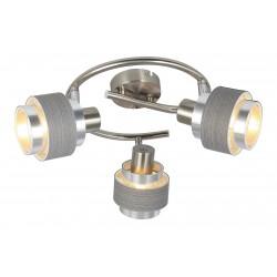 LAMPA SPOT TRIPLA METAL CROM-ARGINTIU-STEJAR BASIL 5381 RABALUX