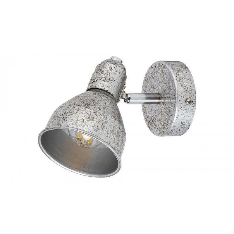 LAMPA DE PERETE METAL ARGINTIU ANTIC THELMA 5386