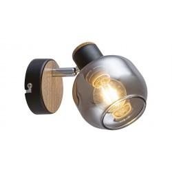 LAMPA DE PERETE PENTRU INTERIOR CU ABAJUR DIN STICLA FUMURIU SALAZAR 5397