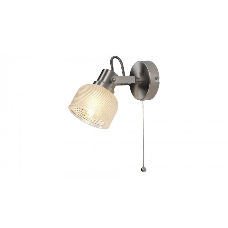 LAMPA DE PERETE CROM SATIN CU ABAJUR TRANSPARENT FRANCIS 5437