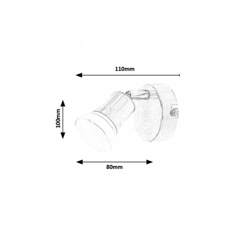 LAMPA DE PERETE METAL CU ABAJUR DIN PLASTIC STICLA OPAL RILEY 5626