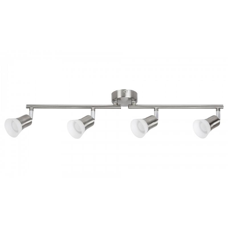 LAMPA SPOT CU PATRU ELEMENETE DIN METAL CROMAT CU ABAJUR DIN PLASTIC/STICLA OPAL RILEY 5630