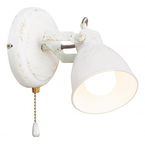 LAMPA DE PERETE METAL ALB ANTICHIZAT VIVIENNE 5966