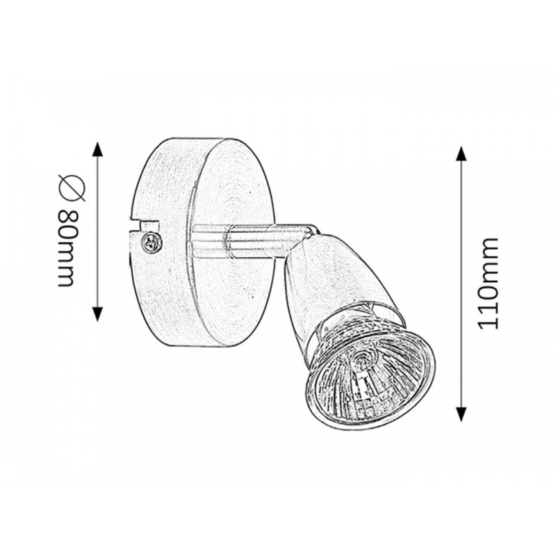 LAMPA DE PERETE METAL/CROM SATIN NORMAN 5991