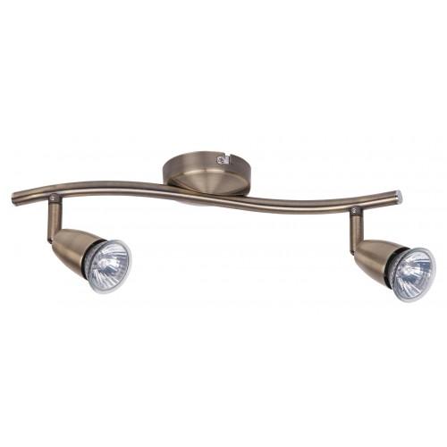 Lampa spot dubla metal/bronz NORMAN 5996 RABALUX