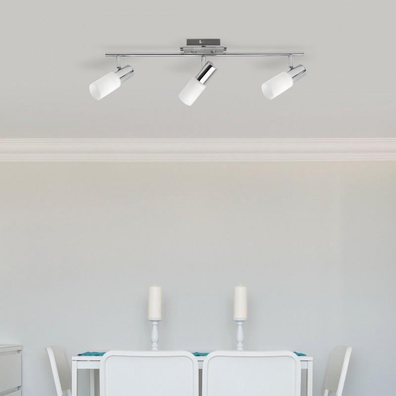 LAMPA SPOT CU TREI ELEMENTE METAL CROMAT LOGAN 6098 RABALUX