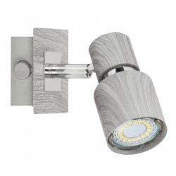 Lampa spot de perete metal/stejar invechit MERKUR 6125