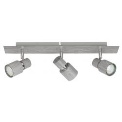 Lampa spot cu trei elemente metal/stejar invechit MERKUR 6127