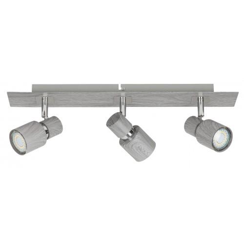 Lampa spot cu trei elemente metal/stejar invechit MERKUR 6127 RABALUX
